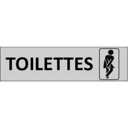 Plaque de porte Toilettes Femme