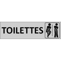 Plaque de porte Toilettes Mixte
