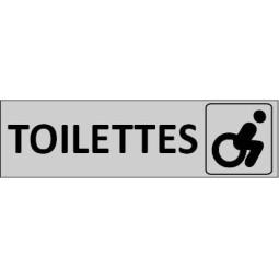 Plaque de porte Toilettes Handicapé