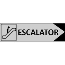 Signalétique Escalator flèche à droite