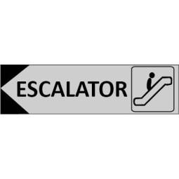 Signalétique Escalator flèche à gauche