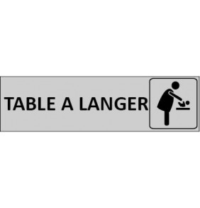 Plaque de Porte Table à langer
