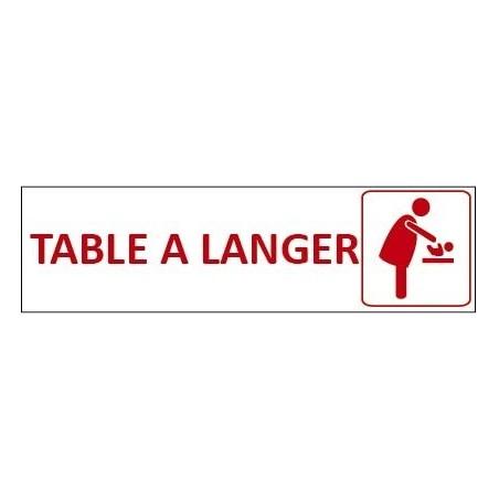 Signalétique Table à langer