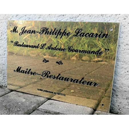 Plaque Maitre Restaurateur