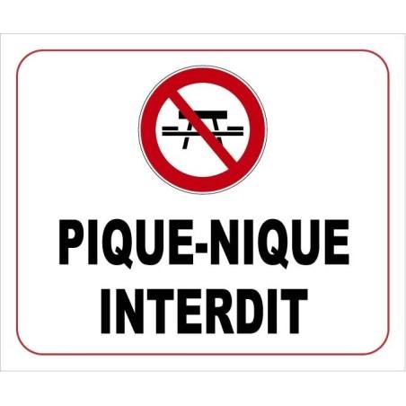 Panneau d'interdiction - Signalétique extérieure