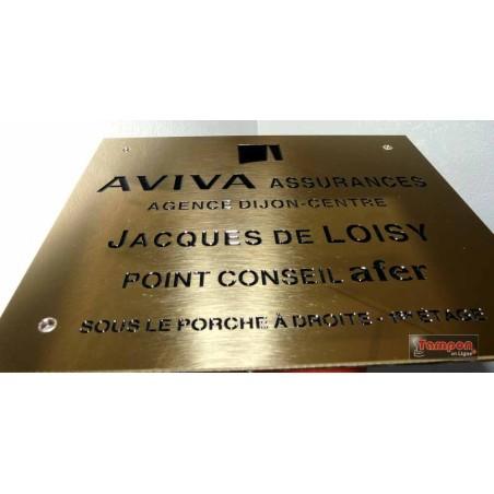 GRAVURE LAITON 30x10cm