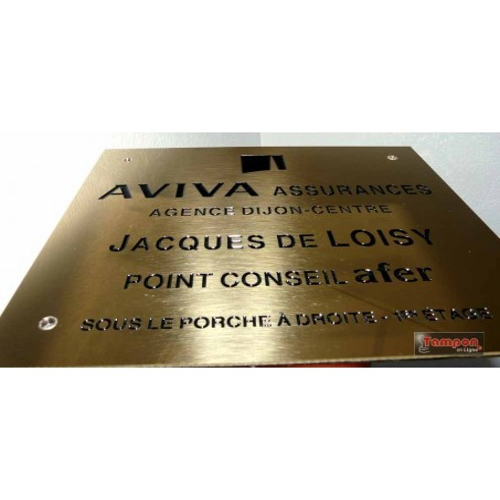 GRAVURE LAITON 40x30cm