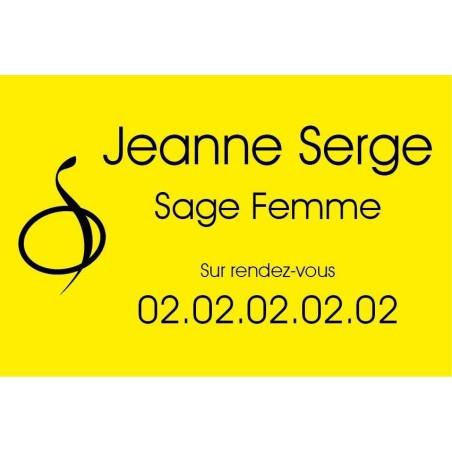 Plaque Professionnelle Sage Femme