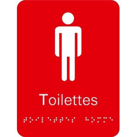 Plaque signalétique Toilettes Homme
