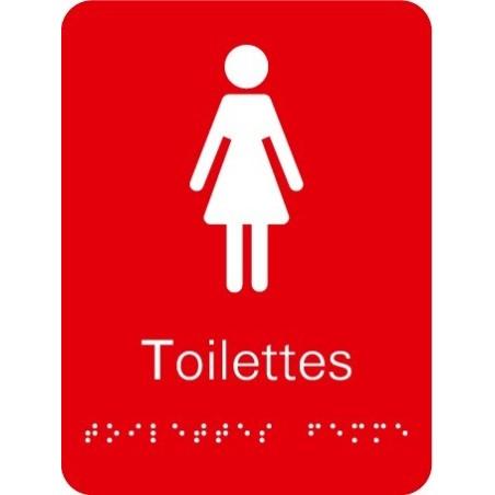 Plaque signalétique Toilettes Femme
