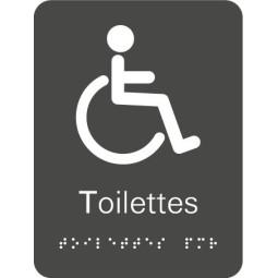 Plaque signalétique Toilettes Handicapés