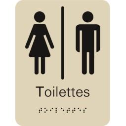 Plaque signalétique Toilettes Mixte