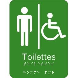 Plaque signalétique Toilettes Homme Handicapé