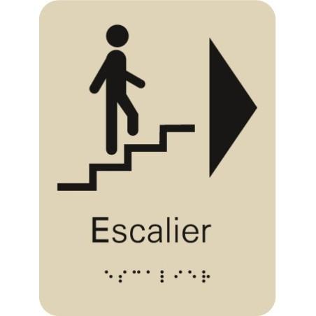 Plaque signalétique Escalier à Droite