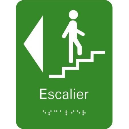 Plaque signalétique Escalier à Gauche