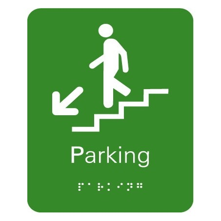 Plaque signalétique Escalier Parking