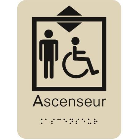 Plaque signalétique Ascenseur Handicapé