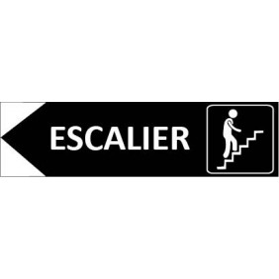 Signalétique Escalier flèche à gauche