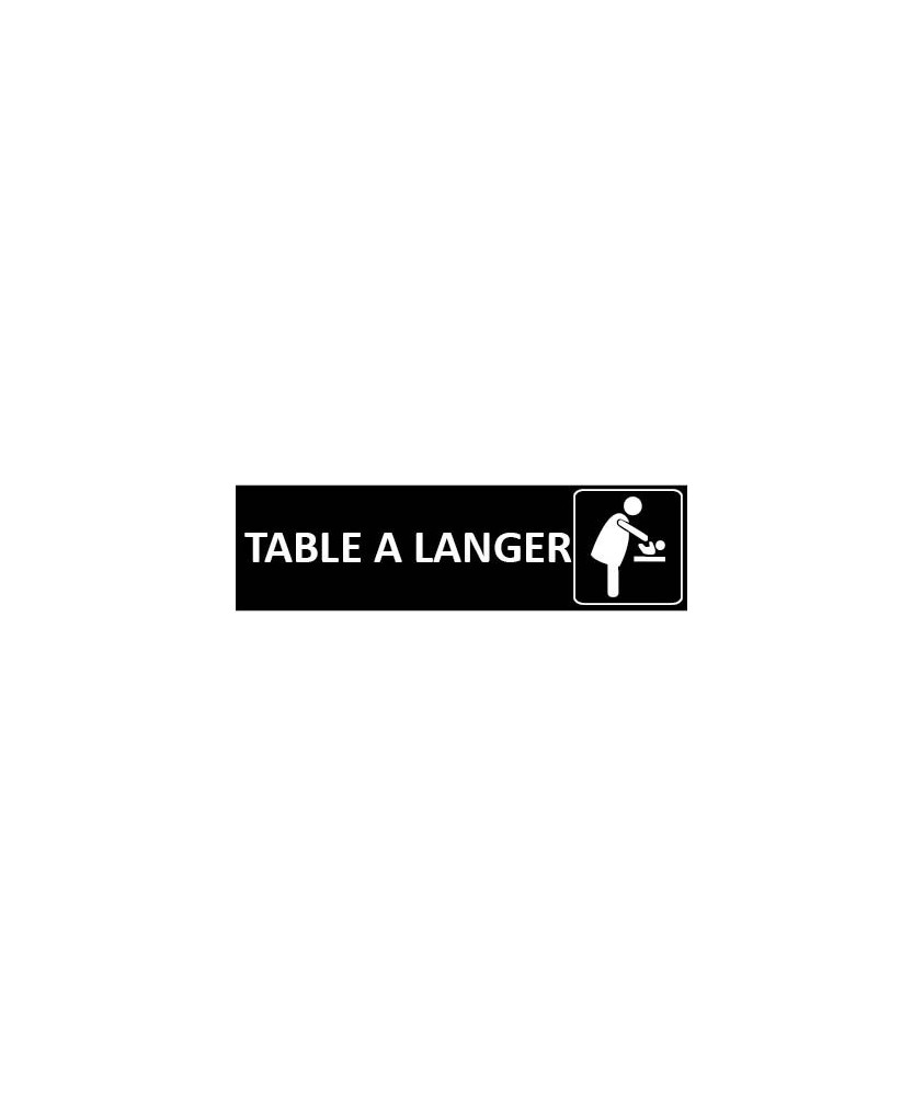 Signalétique Table à langer