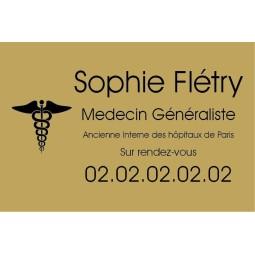 Plaque Professionnelle Medecin