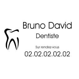 Plaque Professionnelle Dentiste