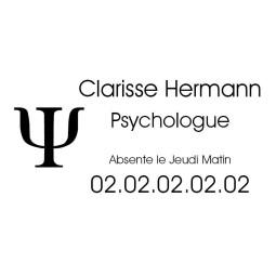 Plaque Professionnelle Psychologue