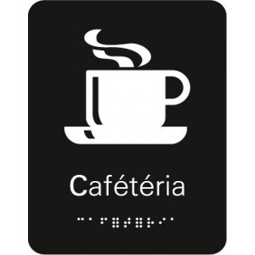 Plaque signalétique Caféteria